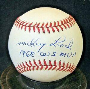 """Mickey Lolich Signed OAL Baseball, JSA Certified, Detroit Tigers w/""""1968 WS MVP"""""""
