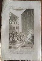 Révolution Française Faubourg Saint Antoine en 1790 Gravure ancienne d'époque