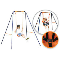 Childrens Hedstrom Deluxe 2 In 1 Swing Converts Toddlers Harness To Junior Seat