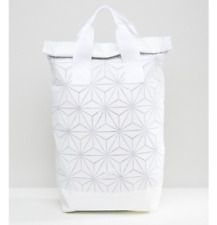 White Adidas Issey Miyake Roll Top Backpack 3D Bao Bao