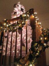 7FT SHIMMERING WHITE MOUNTAIN SPRUCE SLIM CHRISTMAS TREE & STAND / Orig Box /EUC