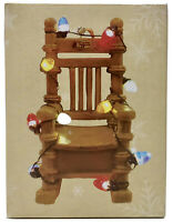 Cracker Barrel Old Country Store Light Up Rocking Chair Christmas Ornament NEW