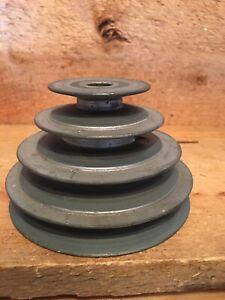 "4-STEP PULLEY 1/2"" bore x 2"" 2 3/4""  -3 1/2 ""-4"" lathe drill press V-belt 400-4s"