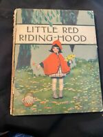 Little Red Riding Hood  Hardcover 1920s Rochester ny Karle Lithographic A008