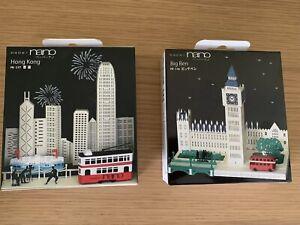 2 x Paper Nano Models: House of Commons Big Ben & Hong Kong Laser Cut Models