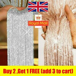Hanging Beaded Curtain String Door Window Curtains Tassel Fly Screen Panel New Q