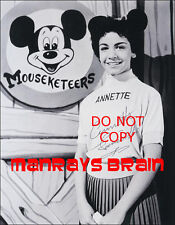 """ANNETTE FUNICELLO Signed Autograph RP 8.5x11"""" Photo MICKEY MOUSE CLUB"""