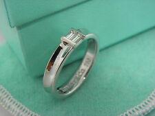 TIFFANY & CO. 18K White Gold Diamond Stacking Ring Size 5.5