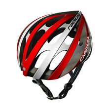 CARRERA RADIUS HIGH QUALITY ROAD BIKE BICYCLE HELMET 58-61cm RED AND SILVER