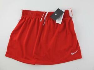 Nike NEW Dri-Fit Lacrosse LAX Women's M Red & White Athletic Short Tennis Skirt