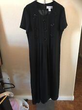 Jessica Howard Black Bow Tie Sequin Formal Dress Size 16
