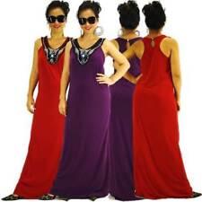 V-Neck Solid Sleeveless Dresses for Women
