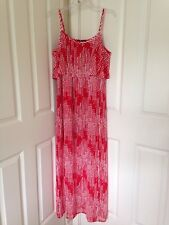 Womens INC Loving Red Printed Ruffled Slit One Side Hem Maxi Dress Sz L