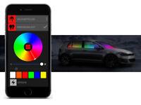 BEPHOS® RGB LED Innenraumbeleuchtung Mercedes C-Klasse W203 APP Steuerung