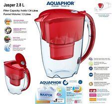 Jasper Filtre à eau pichet carafe rouge rubis (2.8 l) + 1 Cartouche de remplacement B25