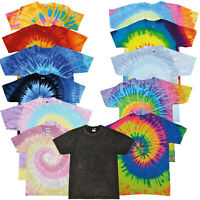 Colortone Unisex Tie-Dye T-Shirt - Short Sleeves Tee Cotton Colorful Top