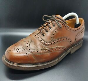 Barbour Ridgeway Brown Leather Brogues - UK Size 8 - Made In Britain