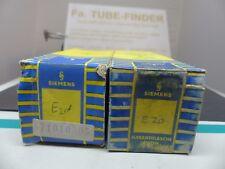 2x  SIEMENS E2d YELLOW LABEL POST-RÖHRE TUBE NEW in Sealed BOX DA BA Ed #2
