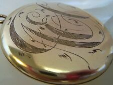 Antique Most Beautiful Large Gold filled Monogrammed Mourning Locket 2 photos