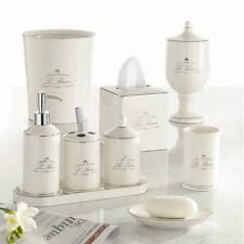 Kassatex Paris French Le Bain 9pc Complete Bath Accessory Set Glazed  Porcelain