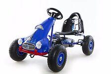 Go Kart 4 Wheel Kids Ride on Car Pedal Powered Outdoor Racer, Blue