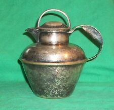 1890 EPNS SILVER PLATE LAWRENCE SMITH BOSTON MA OLD WATER JUG PITCHER CARAF LBS