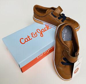 Cat & Jack Haynes Brown Sneakers~Hook & Loop Strap~Toddler Boys' Sz 10~NWT/NIB