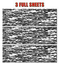 "3 CAMOUFLAGE VINYL DECAL 48"" x 15"" GLOSS TRUCK CAMO TREE PRINT PICKUP SNOW CLOTH"