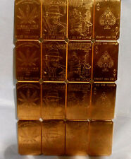 1 Lb. (16 oz) 4 Style 1 oz Divisible Cracker .999 Fine Copper Bullion Bar Ingot
