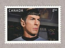 STAR TREK = LEONARD NIMOY as SPOCK = $2.50 stamp from MiniSheet MNH Canada 2016