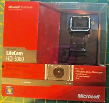 NEW SEALED BOX Microsoft LifeCam HD-5000 720p HD Webcam Camera -  Black