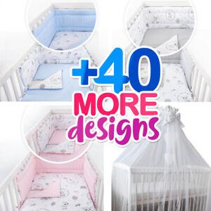 3-5-7 pc set - 40 more UNIQUE designs - FIT cot 120x60 or cot bed 140x70