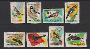 Hungary - 1961, Birds of Woods & Fields set - M/m - SG 1781/8
