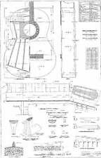 Torres  Classical  - Full scale Guitar PLANS  detailed technical plans