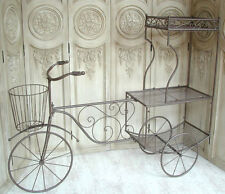 Großes Fahrrad Rikscha Rad Blumenständer 150cm 0949057-a