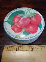 Tissot Vintage Candy Pocket Tin Strawberry Drops Empty France