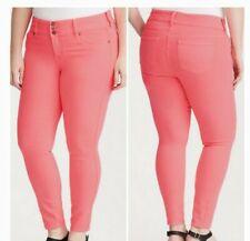 Euc Torrid Neon Pink Denim Jeans Size 18