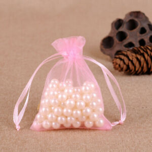 25/50pcs 9x12cm Organza Bags Wedding Party Favor Gift Candy Jewelry Pouches
