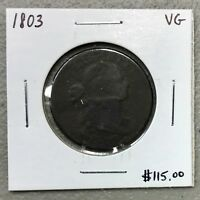 1803 U.S. DRAPED BUST LARGE CENT ~ VG CONDITION! $2.95 MAX SHIPPING! C938