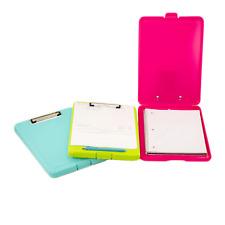 3 Plastic Storage Slim Clipboard Case Document Letter Size Holder Office Supply