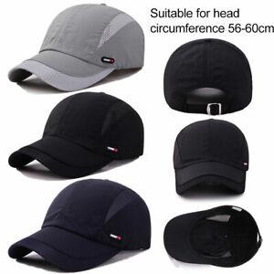 Men Women Unisex Sports Baseball Mesh Hat Running Visor Breathable Cap Summer US