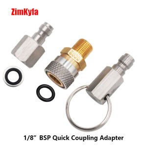 PCP Air Filling Quick Connect Adaptor 1/8 BSP with Plugs Fitting Connector