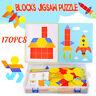 170PCS Holz Puzzle Tangram Gehirn Kinder Puzzlespiel-Spielwaren pädagogisches