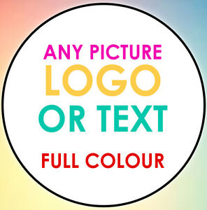 1000 LOGO Printed Round Stickers - Custom Logo labels - Personalised Customised