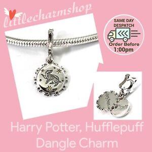 New Authentic PANDORA Silver Harry Potter, Hufflepuff Dangle Charm - 798832C01