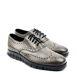 Cole Haan Zerogrand Mens Wingtip Oxford Leather Burnished Pavement US 8 M C30720