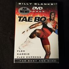 Billy Blanks DVD 3-Pack Tae Bo DVD: Flex/Cardio/Flex Express - Brand New