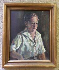 Charles Garfield Tracy (American, 1881-1955) 1934 Portrait- Oil On Masonite- LDS