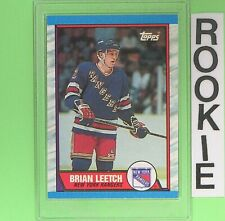 BRIAN LEETCH 1989  ROOKIE  Topps #136   New York Rangers
