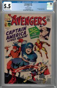 Avengers # 4 CGC 5.5 ow/wp GRR